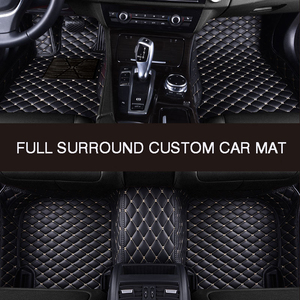 Image 4 - HLFNTF מלא להקיף custom רכב רצפת מחצלת עבור פולקסווגן פולקסווגן פאסאט b5 טוראן 2005 טוארג פולו סדאן גולף שרן רכב אבזרים