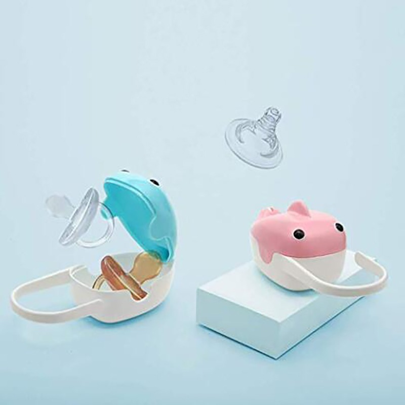 Baby Pacifier Storage Box Portable Cute Whale Shape Kids Pacifier Nipple Cradle Case Holder Travel Storage Box