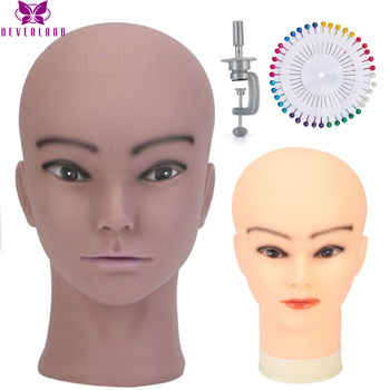 NEVERLAND 20 Inch Mannequin Flat Head Practice Makeup Model Training Head For Wig Making Hat Display Cosmetology Manikin Head