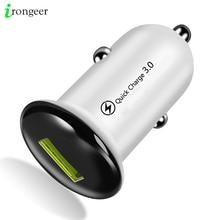 Mini 18W Rápido Carregador de Carro USB Adaptador de Carregador de Carga Rápida 3.0 Car Auto Carregador de Carregamento Para iPhone 11 pro XR Cabo Do Telefone Móvel