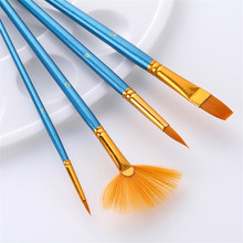 Hair-Paint-Brush-Set Oil-Painting-Supplies Watercolor Artist Pointed-Tip Acrylic Gouache