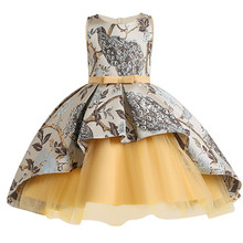 Vestido de verano 2020 para niña, vestido de princesa bordado Vintage, vestidos de fiesta de cumpleaños para niñas, ropa Formal para adolescentes