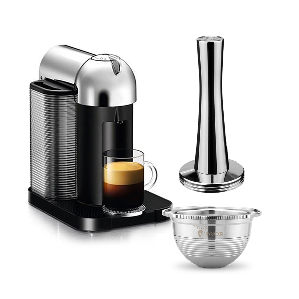 Stainless Steel Reusable  Compatible With Nespresso Capsule Vertuo Refillabel Vertuoline Capsule Coffee Filter