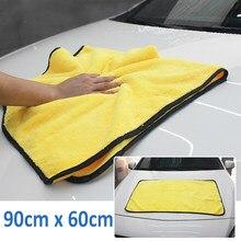 90*60cm süper emici araba yıkama mikrofiber havlu araba temizleme kurutma bezi ekstra büyük boy kurutma havlu araba bakım detaylandırma