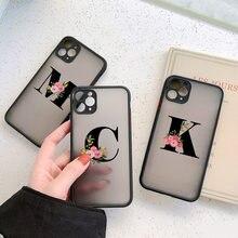26 letras A-Z transparente caixa do telefone para o iphone x xs max xr para o iphone 7 8 plus 11 pro max 6s plus se 2 pc capa dura