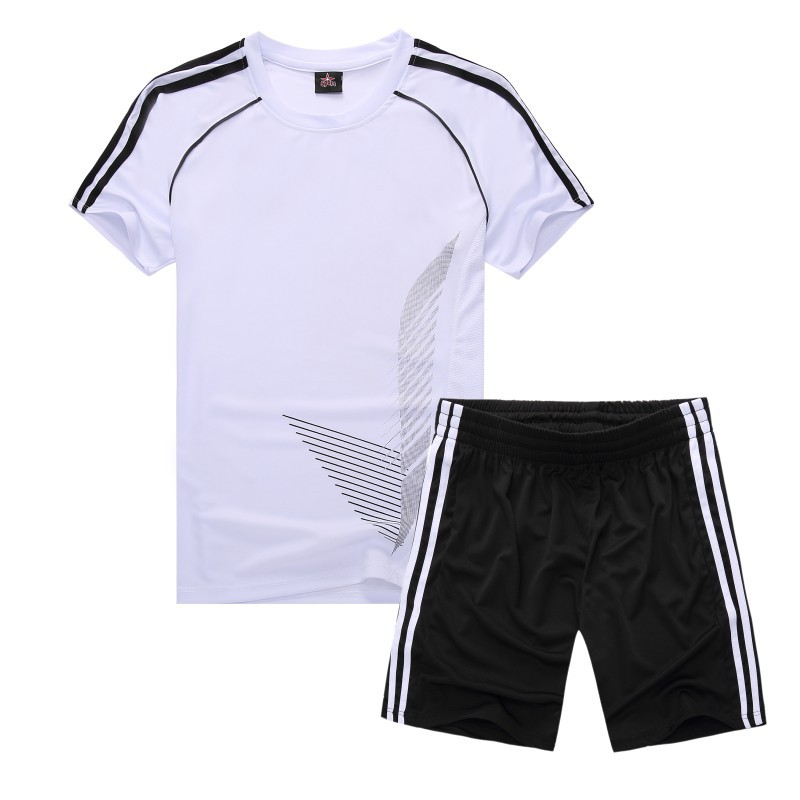 Sports Set Men And Women Summer Short-sleeved Parent And Child Fitness Suit Couples Breathable Quick-Dry Running Clothing Shuttl