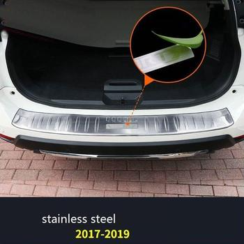 Trunk Achter Panelen Voetpedaal Automobile Decoratieve Chroom Auto Styling Sticker Strip Heldere Pailletten 17 18 19 Voor Nissan X-TRAIL