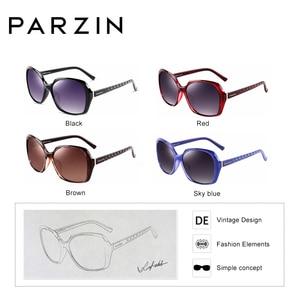 Image 4 - PARZIN lunettes de soleil polarisées pour femmes, grande monture stylée, monture ovale, mode, qualité réelle