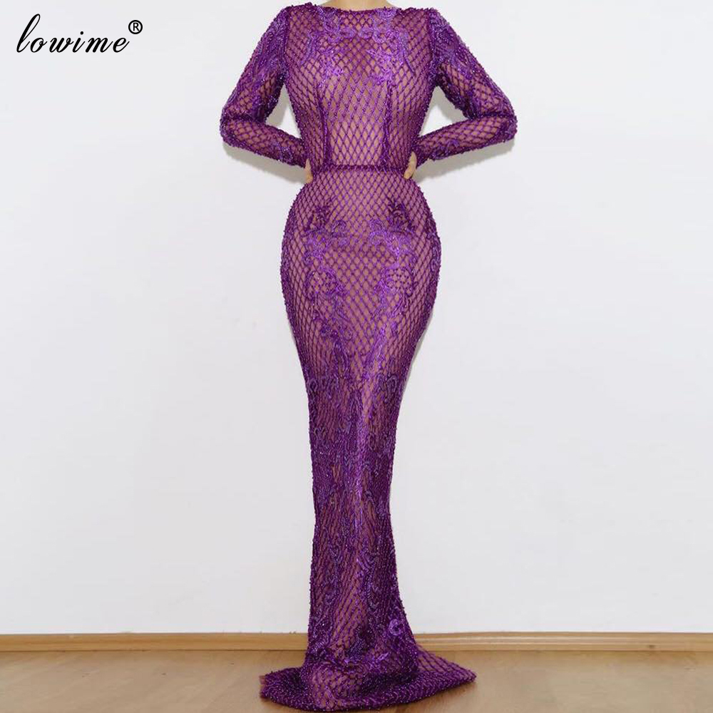 Special Formal Purple Prom Gowns Arabic Long Abiye Gece Elbisesi Dubai Evening Dress Party Abendkleider Pageant Vestidos Custom