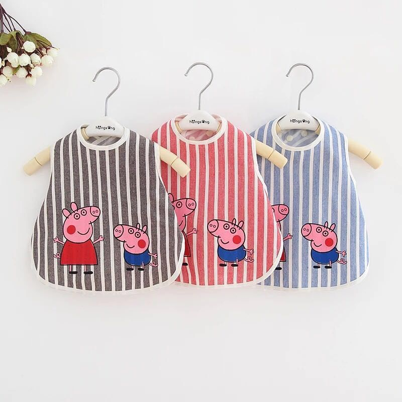 [Bib] Infant Eating Baby Pinny Bib Cotton/Cotton Pure Cotton Waterproof Cover Food And Clothing Pinny