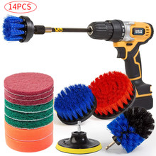 Electric drill brush Set Bathroom Surfaces Tub, Shower, Tile and Grout All Purpose Power Scrubber Cleaning Kit D30(China)