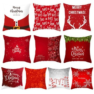 45x45cm Christmas Red Pillow C