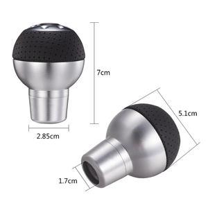 Image 2 - Perilla de engranaje de coche, transmisión Manual, perilla de caja de cambios corta de aluminio, forma de bola