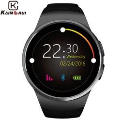 Kaimorui ساعة ذكية الرجال مقياس المرور رصد معدل ضربات القلب ساعة الهاتف بطاقة SIM ل IOS أندرويد ساعة يد بلوتوث الذكية