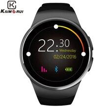 Kaimoruiスマートウォッチの男性歩数計モニター心拍数電話腕時計simカードiosアンドロイドのbluetooth腕時計スマート