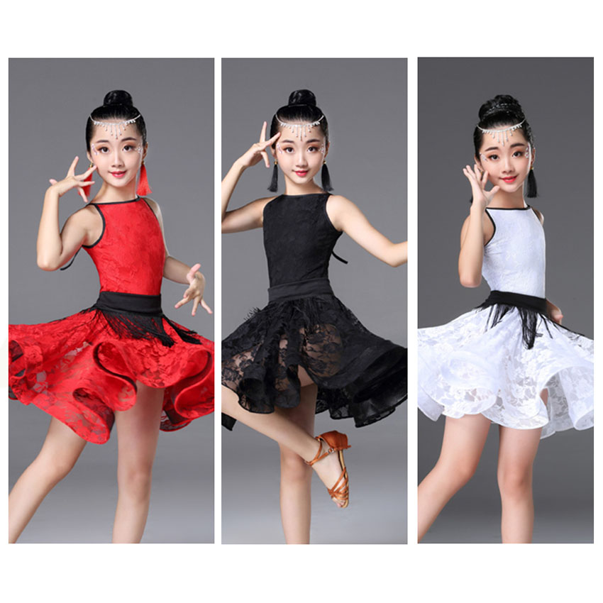 Latin Dance Dress For Ballroom Dancing Tassels Cha Cha Costume For Girl Flamengo Tango Fringe Dress Professional Dance Costume