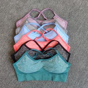 Image 2 - 10sets Wholesale Bulk Seamless Yoga Set Fitness Clothing Sportswear Women Gym Leggings Tights Sports Bra 2Pcs Sports Suits