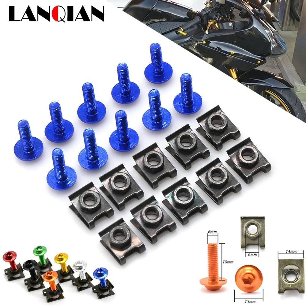 Yamaha R6 Windscreen Bolts 18 piece bolt kit YZF-R6s 98 99 01 02 03 04 05 06 07