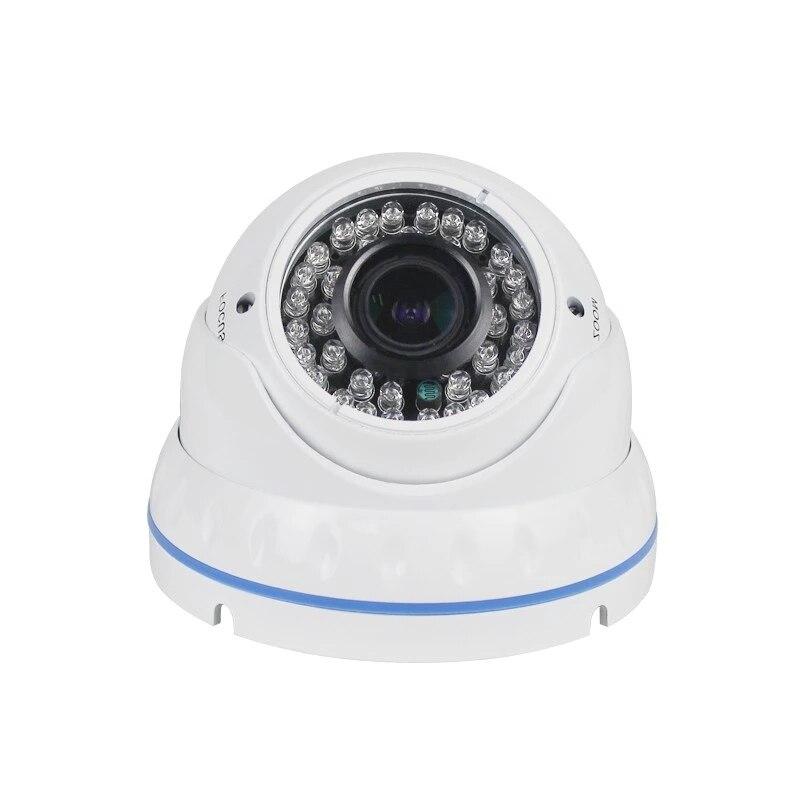 2MP 4X Manual Varifocal Lens 2.8mm 12mm 1080P Security CCTV IP Camera Dome Surveillance Indoor Camera DC 12V 48V POE Optional Surveillance Cameras     - title=