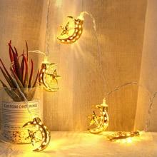 1.5m 10led Eid Mubarak Moon Star Palace Light Led String Islamic Muslim Festival Party Home Decor Ramadan Kareem Ornament