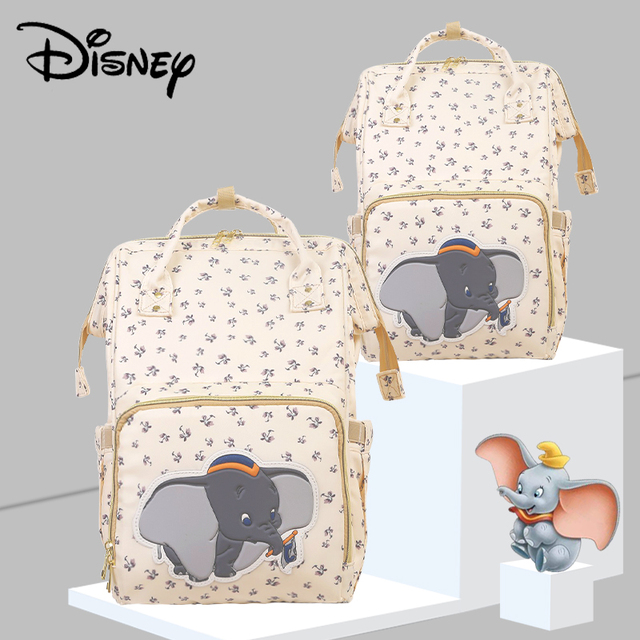 Disney Beige Cute Dumbo USB Diaper Bag Waterproof Backpack Maternity/Nappy Bag For Mom Travel Nursing Bags Luxury Simba New 2020 | Happy Baby Mama