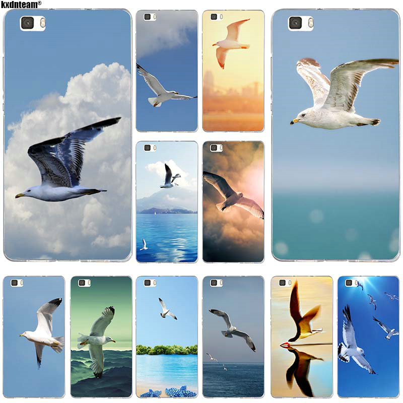 Flying <font><b>Seabirds</b></font> Animal Soft TPU Mobile Phone Accessories for Huawei P8 P9 P10 P20 Mate 10 Pro Y5 Y6 II Y7 Honor 6X 7X 9 Lite Bag image
