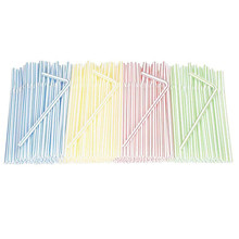 300 Pack Disposable Straws Flexible Plastic Straws Striped Multi Color Rainbow Drinking Straws Bendy Straw Bar Accessories