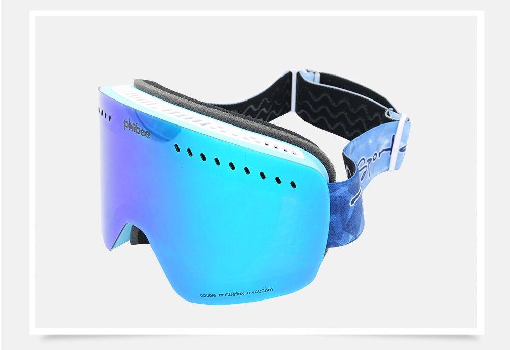 skiing glasses snow