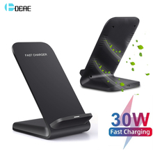 DCAE 30W Qi Wireless Charger Stand For iPhone 12 Mini XS MAX XR 11 Pro 8 Samsung S21 S20 S10 Fast Charging Station Phone Holder