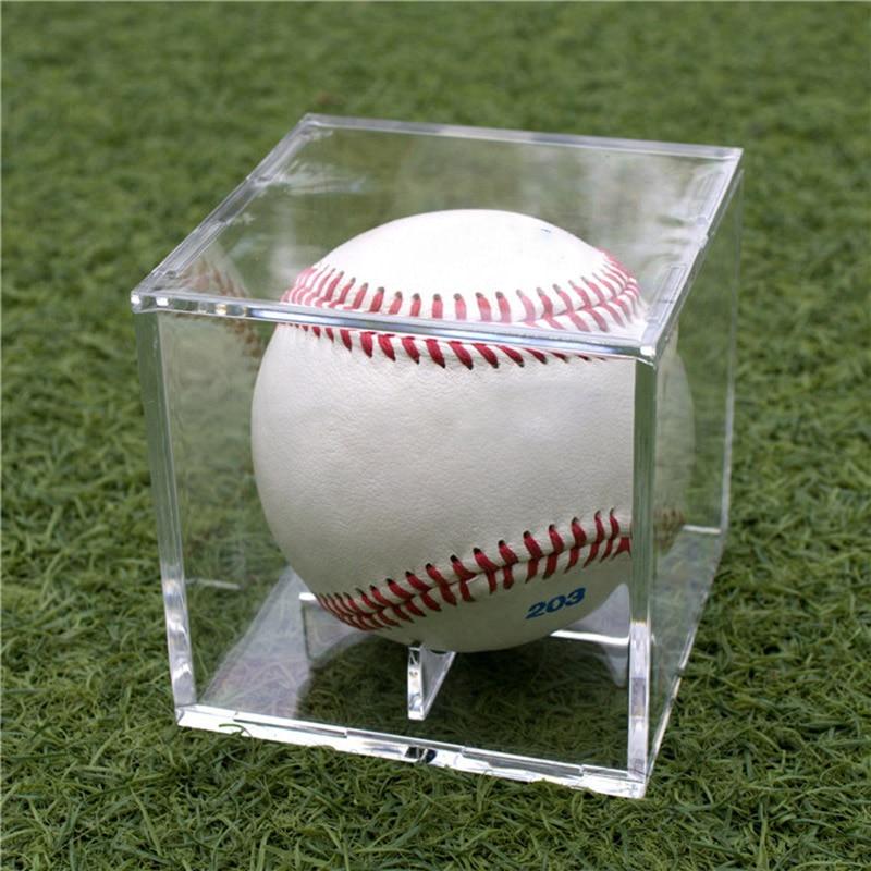 YDong Acrylic 9 Inch Baseball Box Display Tennis Ball Transparent Case for Souvenir Storage Box Holder Uv Dustproof