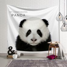 Nordic Ins Style Wall Cloth Tapestries Panda Sheep Animals Printed Hanging Tapestry Beach Throw Towel Home Decor Blanket