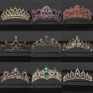 Jewelry Headpiece Hair-Accessories Rhinestone-Head Queen Tiara Wedding-Crown Crystal