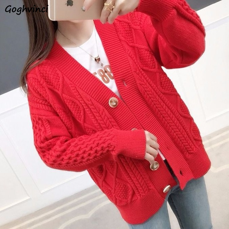 Sweaters Women Short Style Thickening Warm With Buttons Sweet Ulzzang Cute Students Korean Style Womens Fashionable Classic Chic