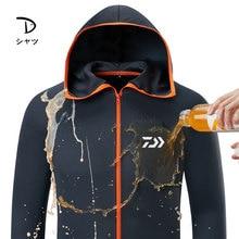 DAIWA Ice Silk Водонепроницаемая Мужская одежда для рыбалки Tech Hydrophobic противообрастающий жилет для активного отдыха, походные куртки с капюшоном DAWA рубашка