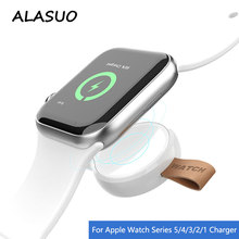 Portable Wireless Charger for Apple Watch Series 5 4 3 2 1 USB Magnetic Charger for i Watch Fast Charging Pad for iPhone Watch