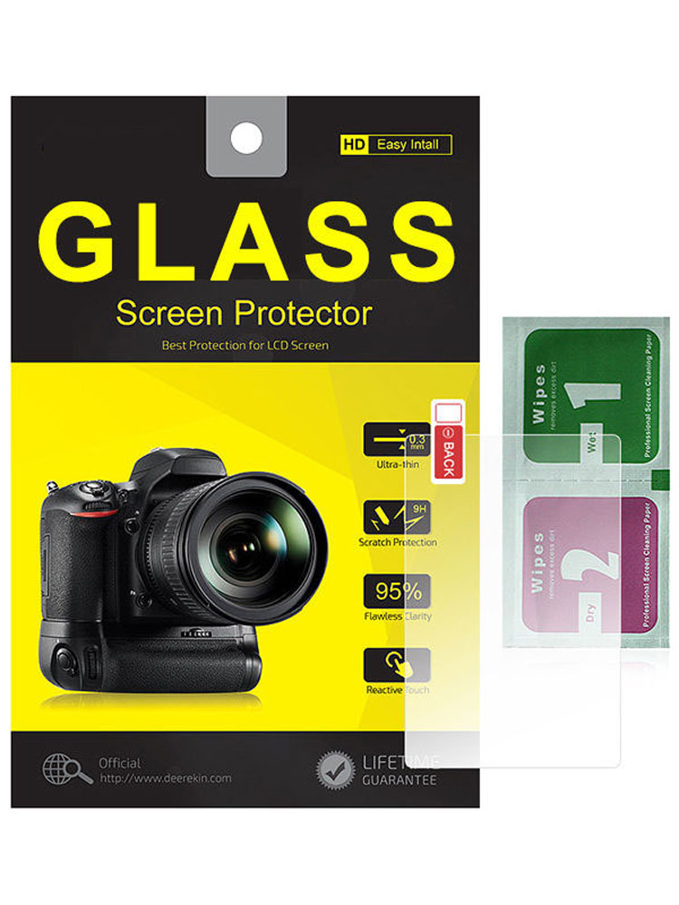 2PCS 9H Tempered Glass Screen Protector Film for Canon Eos 70D 80D 90D
