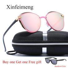 Luxury ยี่ห้อ CATEYE Polarized แว่นตากันแดดผู้หญิงแว่นตากันแดด VINTAGE designer CAT EYE สุภาพสตรีแว่นตา Sun สำหรับหญิง Oculos gafas