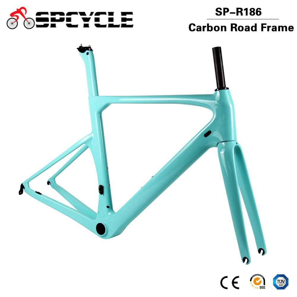 Spcycle T1000 Full Carbon Aero Road Bike Frame 70*28C Racing Bicycle Carbon Frameset UD Glossy/Matte Size BB386 50/53/56/59cm