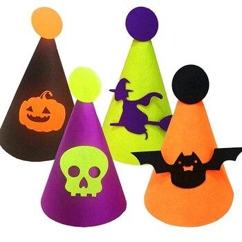 Cute headdress Halloween Cap Cone Children Party Hat Headpiece Halloween Masquerade Costume Accessories Colorful
