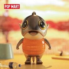 POP MART Biggle pez del mundo para una sola colección de cajas muñeca Cute Action Kawaii regalo de figura chico juguete envío gratis