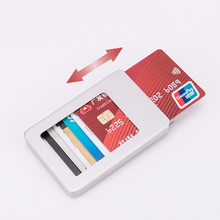 New 2019 Minimalist Slim Card Holder for Men and Women Aluminum Alloy Case Fashion Credit Box