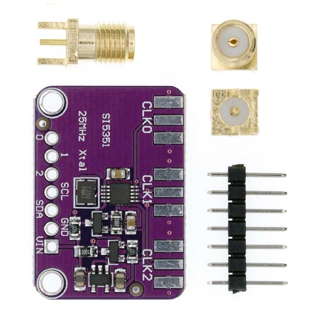 Модуль генератора тактовых сигналов SI5351 SI5351A I2C, 3 В постоянного тока, 5 В, высокочастотный сигнал, частота прямоугольной волны 8 кГц-160 МГц для ...