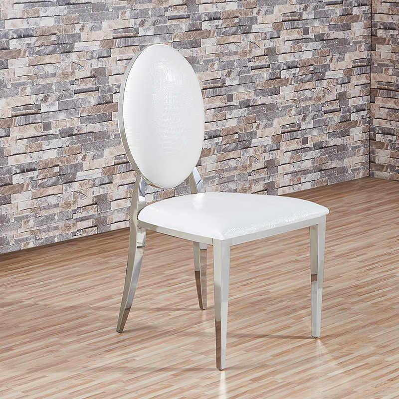 المصنع مباشرة الفولاذ المقاوم للصدأ سبيكة كرسي فاخر كرسي طعام مصنوع من الجلد عالية الجودة الأوروبي المعادن الغربية كرسي بالجملة