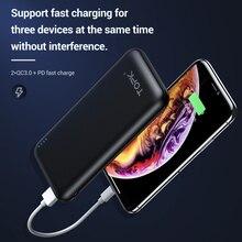 TOPK 10000mAh Power Bank 18W USB Type C External Batteries QC3.0 PD Two-way Fast Charging Powerbank for Samsung Xiaomi Huawei
