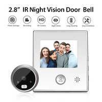 2.8 pouces LCD couleur écran numérique sonnette 120 degrés porte oeil électronique judas porte caméra visionneuse porte intelligente cloche