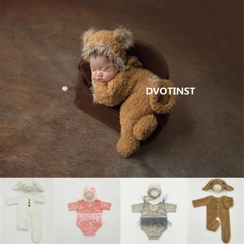 dvotinst newborn fotografia aderecos para o bebe croche malha rendas roupas macacao fotografia acessorios estudio foto