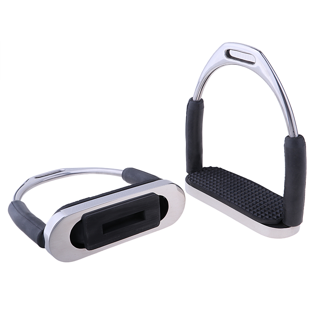 1Pair Stainless Steel Horse Saddle English Stirrups Equestrian Horse Riding Equipment