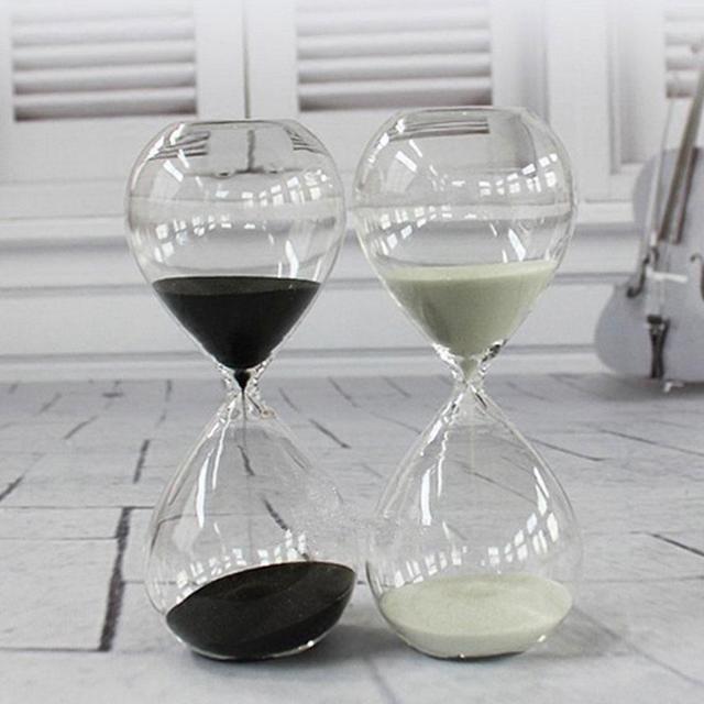 Kreatywne klepsydra zegar z klepsydrą prezenty jako delikatne dekoracje 5cm x 12.5cm