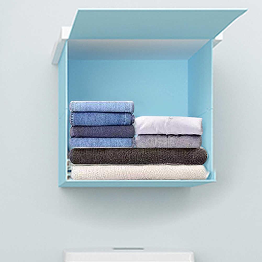 Decoración de pared pintura estante de almacenamiento plegable estante de lavandería soportes de almacenamiento de cocina de baño organizador de almacenamiento