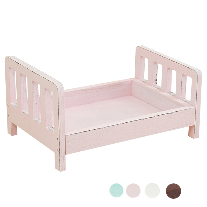 Crib Posing Detachable Studio Props Background Gift Newborn Photography Props Infant Wood Bed Sofa Basket Accessories Fotografia